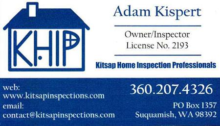 Adam Kispert SOPHI Certified Home Inspector 360 270 4326