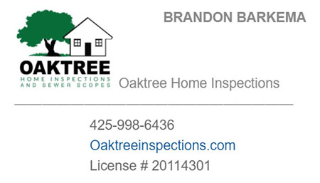 Brandon Barkema SOPHI Certified Home Inspector 425-998-6436