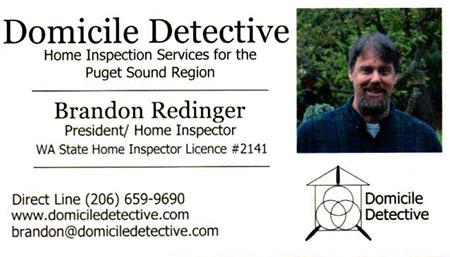 Brandon Redinger SOPHI Certified Home Inspector 206-659-9690