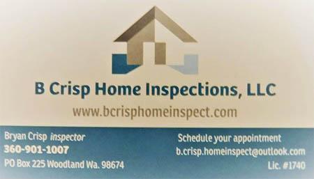Bryan Crisp Home Inspection SOPHI Certified Home Inspector 360 901 1007