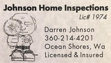 Darren Johnson SOPHI Certified Home Inspector 360 214 4201