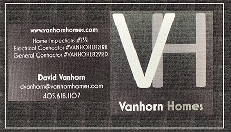 David Vanhorn SOPHI Certified Home Inspector 405-618-1107