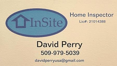 David Perry SOPHI Certified Home Inspector 509-979-5039