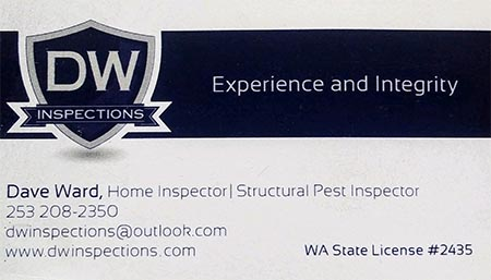 David Ward SOPHI Certified Home and Structrual Pest Inspector 253-208-2350