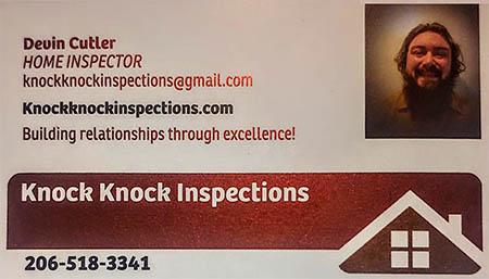 Devin Cutler SOPHI Certified Home Inspector 206-518-3341