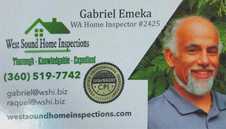Gabreil Ekema SOPHI Certified Home Inspector 360-519-7742