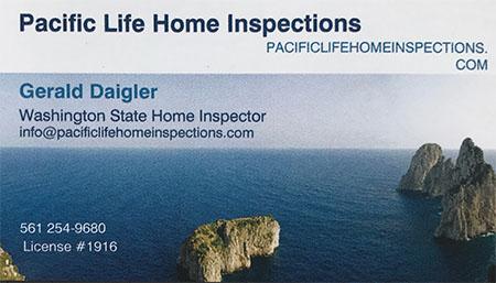Gerald Daigler SOPHI Certified Home Inspector 561 254-9680