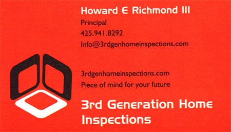 Howard Richmond SOPHI Certified Home Inspector 425-941-8292