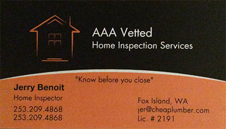 Jerry Benoit SOPHI Certified Home Inspector 253 209 4868