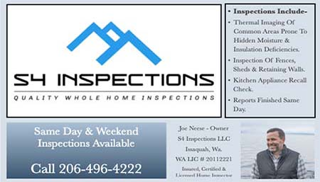 Joe Neese SOPHI Certified Home Inspector (206)861-2513