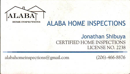 Jonathan Shibuya - SOPHI Certified Home Inspector 206-466-8876