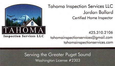 Jordan Ballard - Tahoma Inspection Services SOPHI Certified Home Inspector 425-310-2106