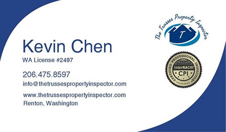 Kevin Chen SOPHI Certified Home Inspector 206-475-5897 Speaks Chinese