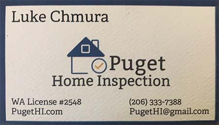 Luke Chmura SOPHI Certified Home Inspector 206-333-7388