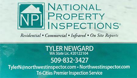 Tyler Newgard SOPHI Certified Home Inspector 509-832-3427