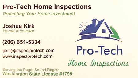 Joshua Kirk SOPHI Certified Home Inspector 206-651-5334